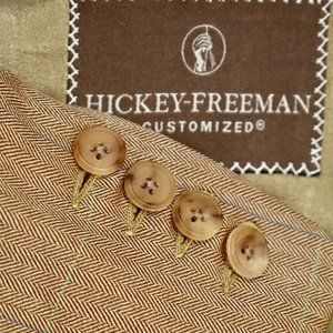 48L Hickey Freeman Customized WOOL SILK Tan BLAZER